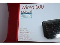 Microsoft Keyboard wired 600 Model 1576 - Brand New, in box RRP £20