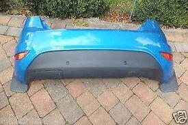 Mk8 mk9 fiesta back bumper in blue with reversing sensors