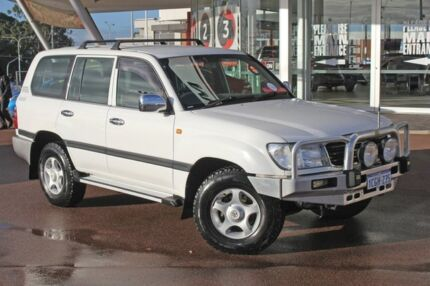 2001 Toyota Landcruiser HDJ100R GXL (4x4) White 5 Speed Manual 4x4 Wagon