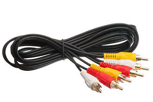 RCA CABLE, 3 IN 1 AUDIO VIDEO CABLE 6 FEET UP TO 65 FEET LENGTH