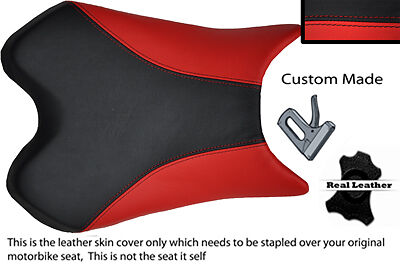 BLACK AND RED CUSTOM 06 07 FITS <em>YAMAHA</em> 600 YZF R6 REAL LEATHER SEAT CO