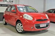 2011 Nissan Micra K13 TI Red 4 Speed Automatic Hatchback Southport Gold Coast City Preview
