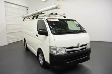 2011 Toyota Hiace KDH201R MY11 Upgrade LWB White 4 Speed Automatic Van