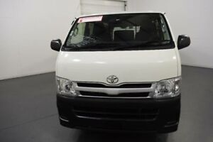 2013 Toyota Hiace KDH201R MY12 Upgrade LWB White Solid 4 Speed Automatic Van