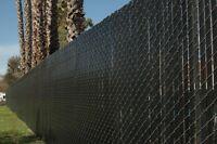 5' & 6' Chain Link Fence Privacy Slats Black