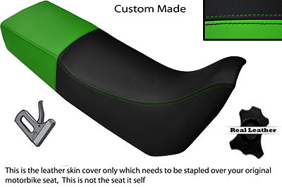 BLACK AND GREEN CUSTOM FITS TRIUMPH TIGER 885 I DUAL LEATHER SEAT COVE