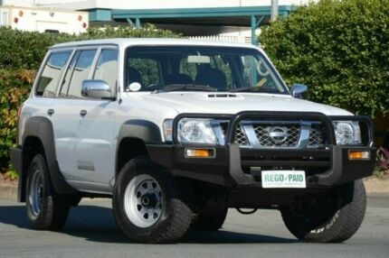2011 Nissan Patrol GU 7 MY10 DX White 4 Speed Automatic Wagon