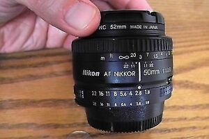 NIKON 50mm f1.8 D lens.......filter available