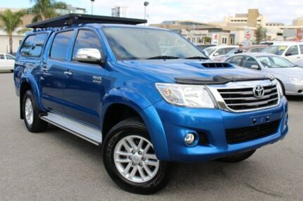 2014 Toyota Hilux KUN26R MY14 SR5 Double Cab Tidal Blue 5 Speed Automatic Utility