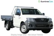 2013 Toyota Hilux TGN16R MY12 Workmate White 4 Speed Automatic Cab Chassis Perth Perth City Area Preview