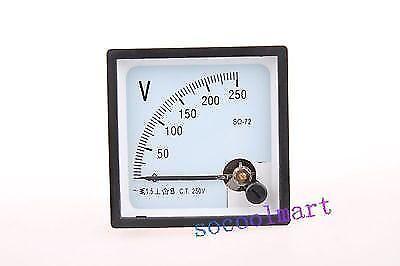 High Quality Analog Volt Panel Meter Ac 250v Sq-72 Voltmeter