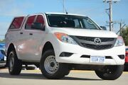 2012 Mazda BT-50 XT (4x2) White 6 Speed Automatic Dual Cab Utility Victoria Park Victoria Park Area Preview
