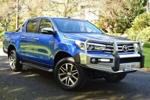 2015 Toyota Hilux GUN126R SR5 Double Cab Blue 6 Speed Sports Automatic Utility St Marys Mitcham Area Preview
