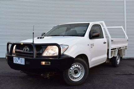 2010 Toyota Hilux KUN16R MY10 SR White 5 Speed Manual Cab Chassis
