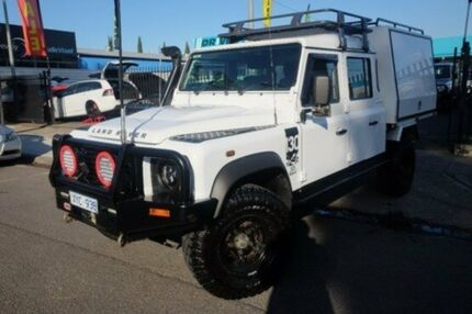 2010 Land Rover Defender 130 10MY Crew Cab White 6 Speed Manual Cab Chassis