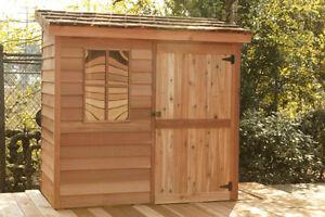 Cedar shed lean-to  6 x 3