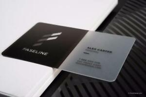 Plastic Business card printing as low as $0.10/ea