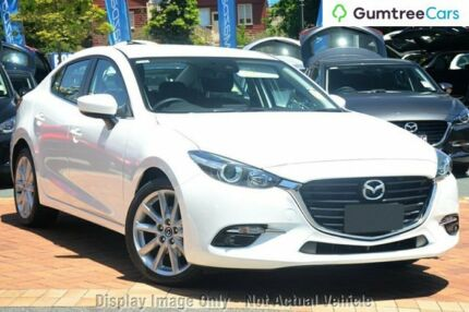 2017 Mazda 3 BN MY17 SP25 Snowflake White Pearl 6 Speed Automatic Sedan Liverpool Liverpool Area Preview