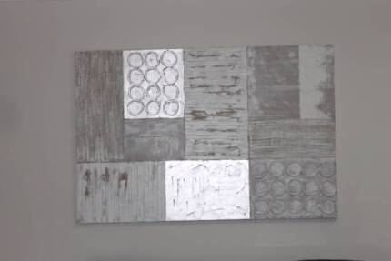 2 x large painting (silver tone)