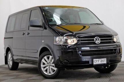 2012 Volkswagen Multivan T5 MY13 TDI340 DSG Comfortline Black 7 Speed Sports Automatic Dual Clutch