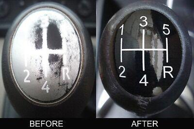 Renault Laguna Megane II Scenic 5 Gear Stick Knob Insert Cover sticker .