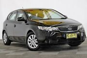 2012 Kia Cerato TD MY12 S Black 6 Speed Manual Hatchback Seven Hills Blacktown Area Preview