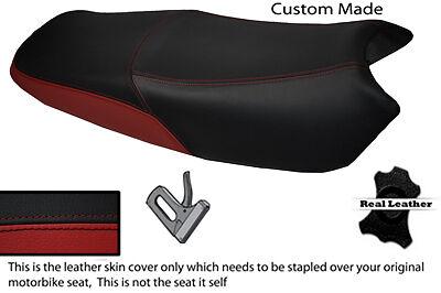 BLACK AND DARK RED CUSTOM FITS <em>YAMAHA</em> YBR 125 05 09 DUAL LEATHER SEAT