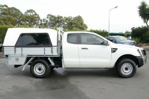 2014 Ford Ranger PX XL Super Cab Cool White 6 Speed Manual Cab Chassis
