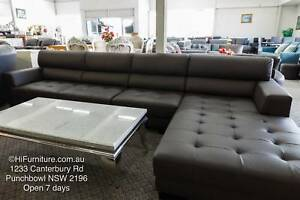 BRAND NEW Genuine Leather Lounge ON SALE WAS $3000 Punchbowl Canterbury Area Preview