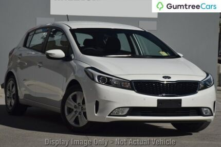 2018 Kia Cerato YD MY18 S (AV) Clear White 6 Speed Auto Seq Sportshift Hatchback Wangara Wanneroo Area Preview