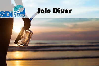 SDI ONLINE SOLO DIVER & FINISH TRAINING WITH ANY SCUBA INSTRUCTOR