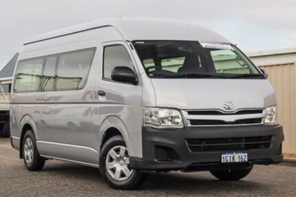 2013 Toyota Hiace KDH223R MY12 Commuter High Roof Super LWB Silver 4 Speed Automatic Bus