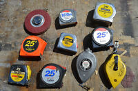 Bunch of Tapes and Chalk Lines