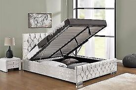 ***⚫***WE DO ALL TYPE OF BUNK BED**⚫ Chesterfield Storage Bed 4ft6 Double Crushed Bed Frame KINGSIZE