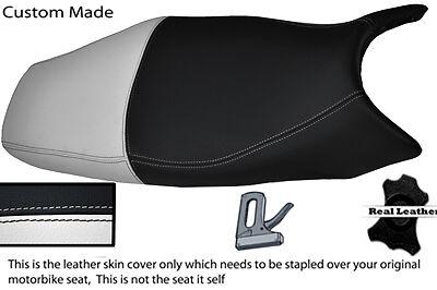 WHITE AND BLACK CUSTOM FITS <em>YAMAHA</em> YZF 600 R THUNDER CAT LEATHER SEAT