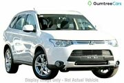 2014 Mitsubishi Outlander ZJ MY14.5 ES 4WD White 6 Speed Constant Variable Wagon Hobart CBD Hobart City Preview