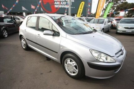 2002 Peugeot 307 T5 XS Silver 4 Speed Sports Automatic Hatchback Kingsville Maribyrnong Area Preview