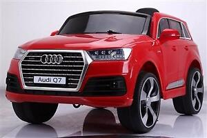 BRAND NEW LICENSED AUDI Q7 CHILD RIDE ON DELUXE WITH 12V BATTERY, LEATHER SEAT, IMPROVED DAHBOARD, BLUETOOTH REMOTE,