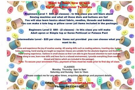 Sewing Classes and Soft Toy Making Classes