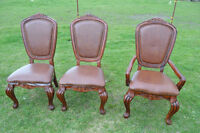 Three High Back Chairs