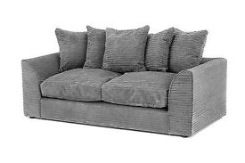3 Seater Fabric Sofa - Grey