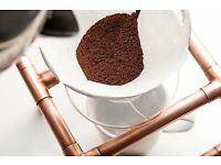 Handmade vintage copper stand with Hario V60 02 and 100 filters ideal for gift