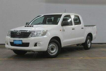 2013 Toyota Hilux KUN16R MY12 SR Double Cab White 5 Speed Manual Utility Brooklyn Brimbank Area Preview