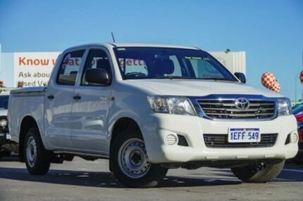 2013 Toyota Hilux GGN15R MY12 SR Double Cab Glacier White 5 Speed Automatic Utility