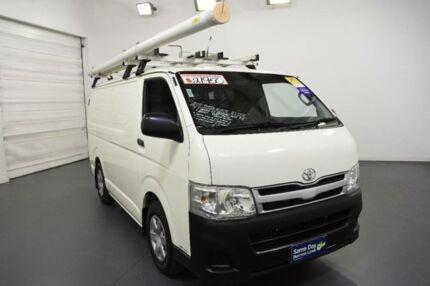 2010 Toyota Hiace KDH201R MY11 LWB White Solid Manual Van