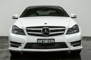 2014 Mercedes-Benz C250 C204 MY14 7G-Tronic + White 7 Speed Sports Automatic Coupe