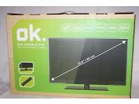 "ok. OLE 24450-B SAT 23,6"" 1080p Full HD LED Television. basically new in original packaging"