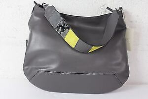 Grey Leather Iacucci Purse ( made in Italy)