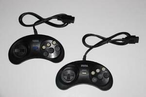 2X SEGA GENESIS-MANETTE 6 BOUTTONS/6 BUTTONS CONTROLLER (NEUF/NEW) [VOIR/SEE DESCRIPTION] (C003)