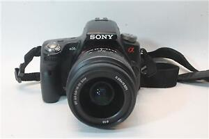 Sony SLT-A35 camera with 18-55mm 55-200mm